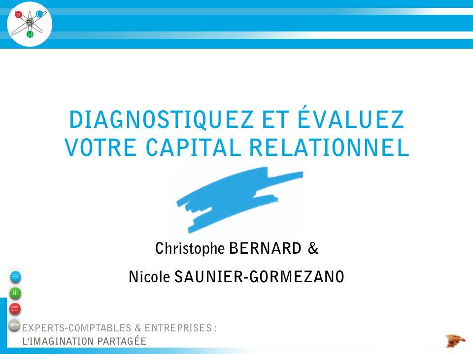 DIAGNOSTIQUEZ ET ÉVALUEZ VOTRE CAPITAL RELATIONNEL Christophe BERNARD & Nicole SAUNIER-GORMEZANO