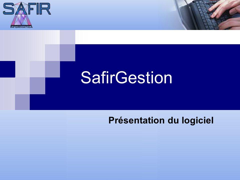 SafirGestion Prezentare aplicatie Présentation du logiciel