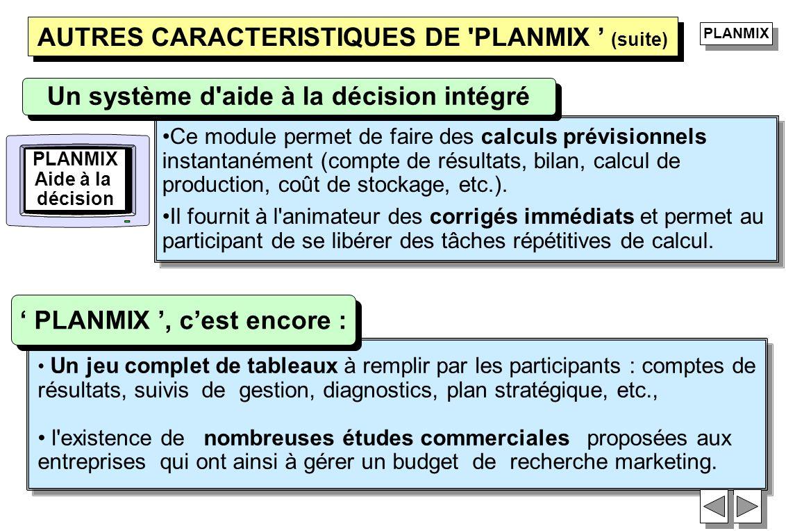 Un jeu complet de tableaux à remplir par les participants : comptes de résultats, suivis de gestion, diagnostics, plan stratégique, etc., l'existence