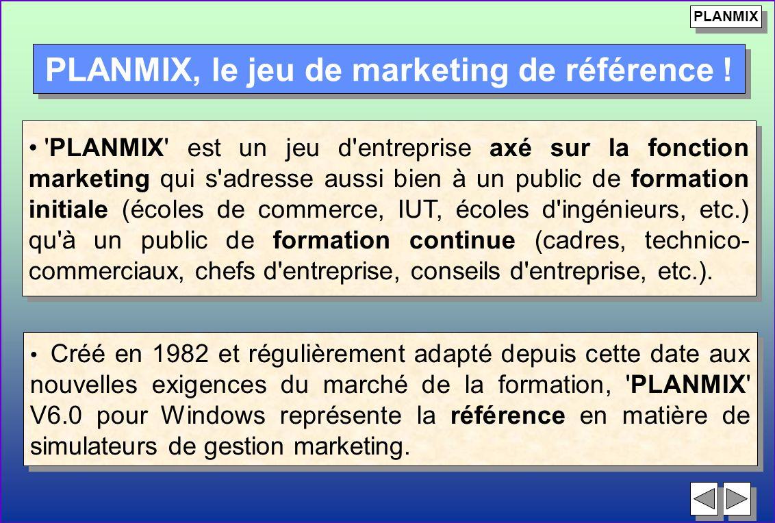 Créé en 1982 et régulièrement adapté depuis cette date aux nouvelles exigences du marché de la formation, 'PLANMIX' V6.0 pour Windows représente la ré