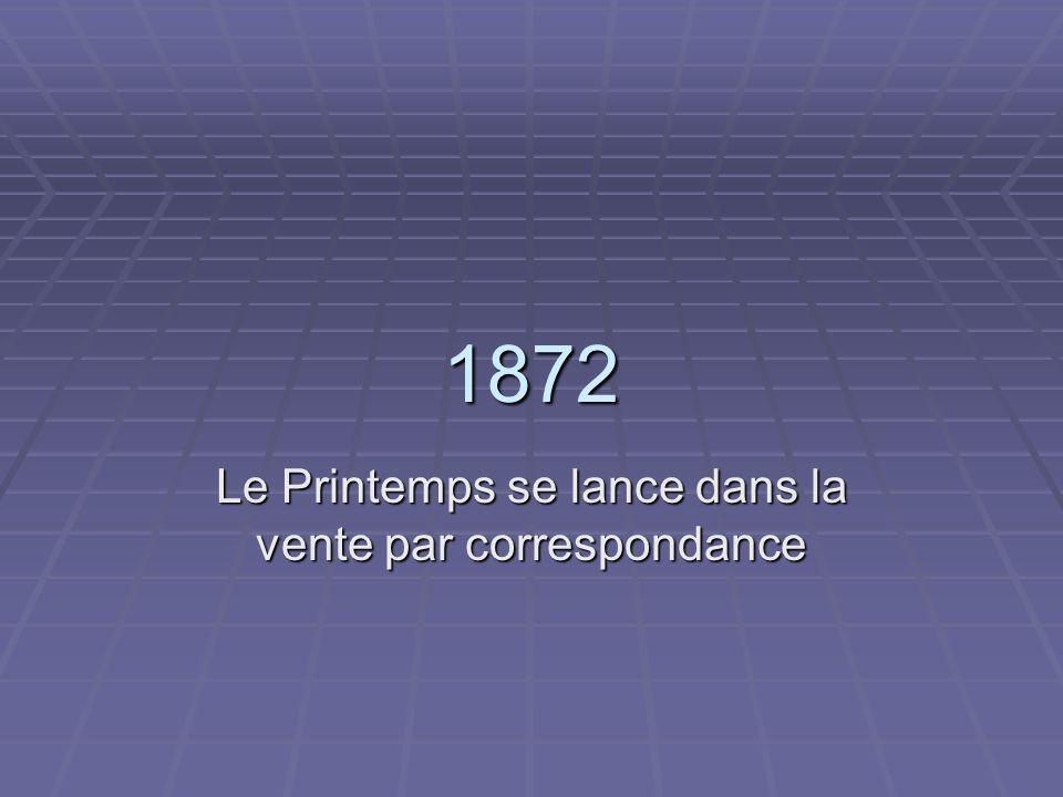 1872 Le Printemps se lance dans la vente par correspondance