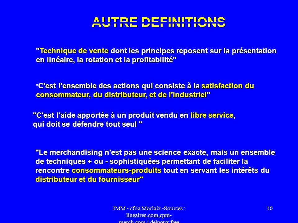 JMM - cfpa Morlaix -Sources : lineaires.com,cpm- merch.com,j.delpoux.free 9 AU BON PRIX Plusieurs facteurs doivent nécessairement être pris en compte