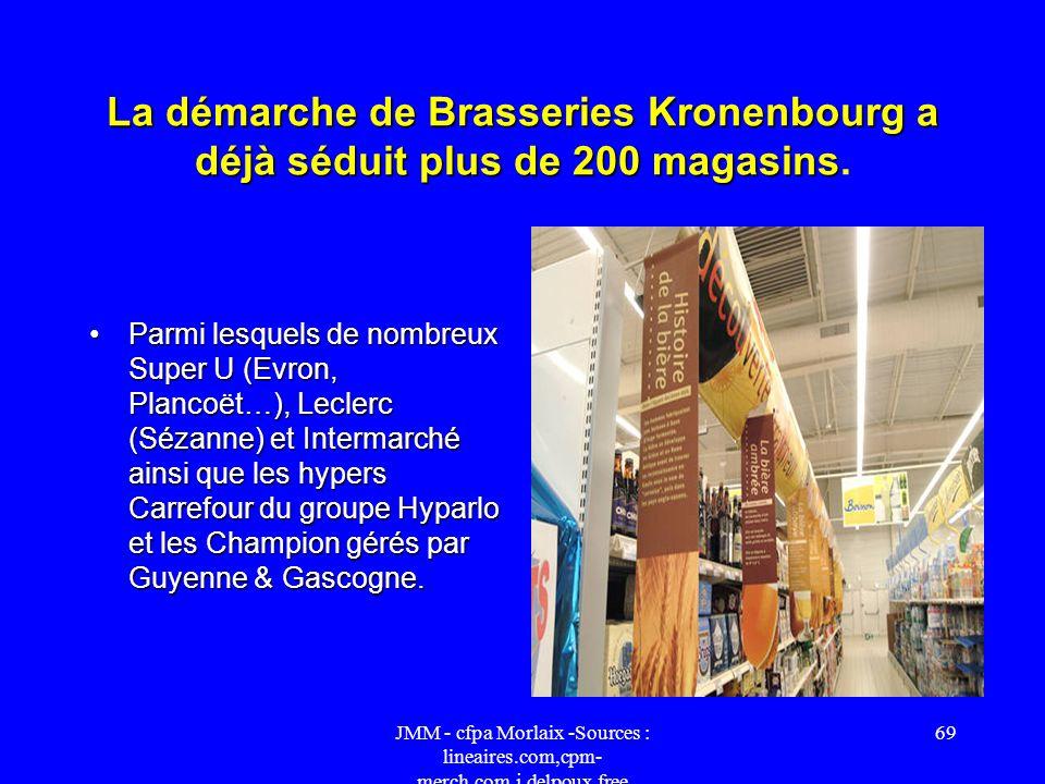 JMM - cfpa Morlaix -Sources : lineaires.com,cpm- merch.com,j.delpoux.free 68 La présence des panachés et bières sans alcool à une extrémité du rayon D