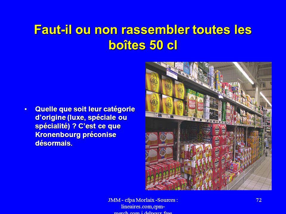 JMM - cfpa Morlaix -Sources : lineaires.com,cpm- merch.com,j.delpoux.free 71 92 magasins arborent des linéaires aux couleurs de « Culture Bière ». Ess