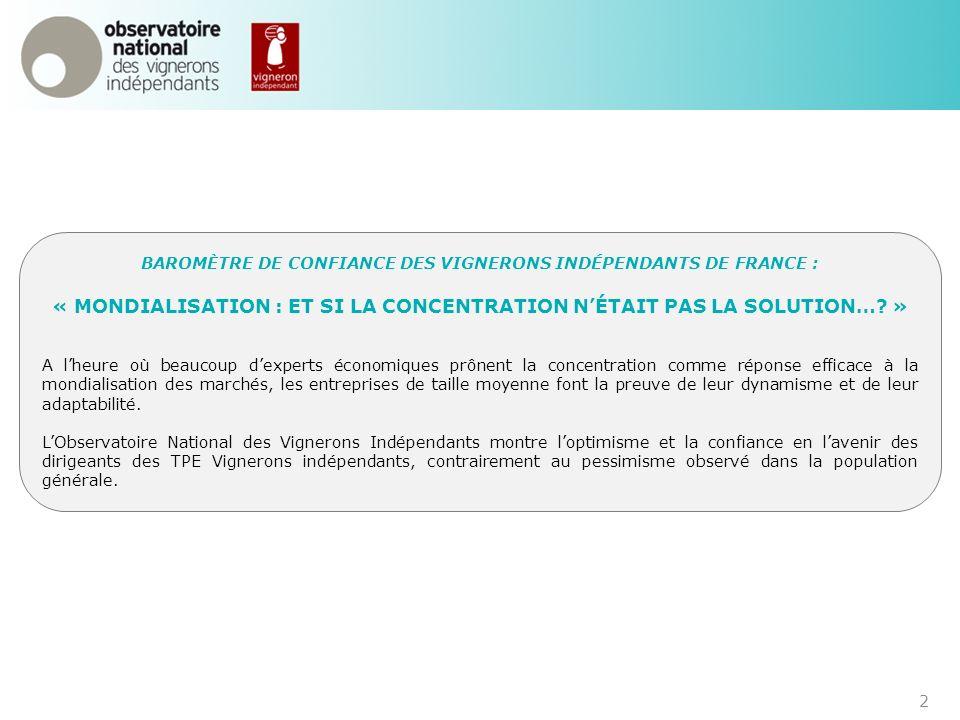 B.FICHE DIDENTITÉ DU MOUVEMENT VIGNERONS INDÉPENDANTS DE FRANCE Structure du mouvement Organisation En 2011, les Vignerons Indépendants de France regroupent : environ 6 000 adhérents, 32 fédérations départementales, 11 fédérations régionales, une confédération nationale.