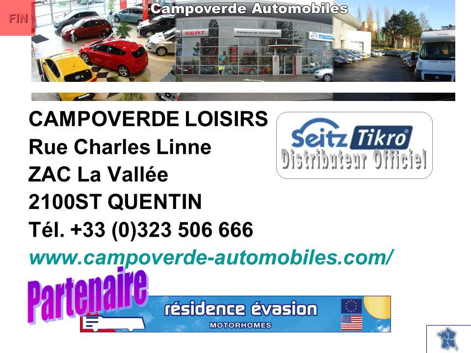 CAMPOVERDE LOISIRS Rue Charles Linne ZAC La Vallée 2100ST QUENTIN Tél.