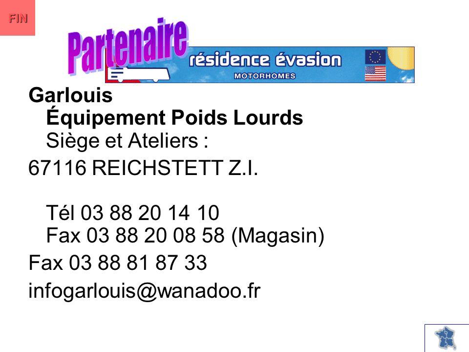 Garlouis Équipement Poids Lourds Siège et Ateliers : 67116 REICHSTETT Z.I.