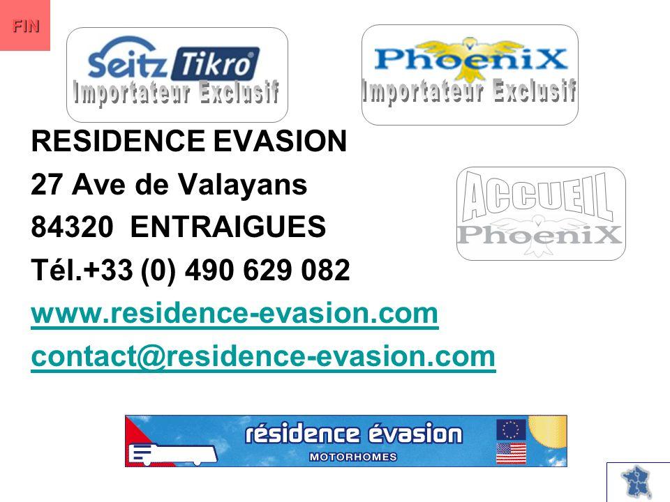 RESIDENCE EVASION 27 Ave de Valayans 84320 ENTRAIGUES Tél.+33 (0) 490 629 082 www.residence-evasion.com contact@residence-evasion.com FIN