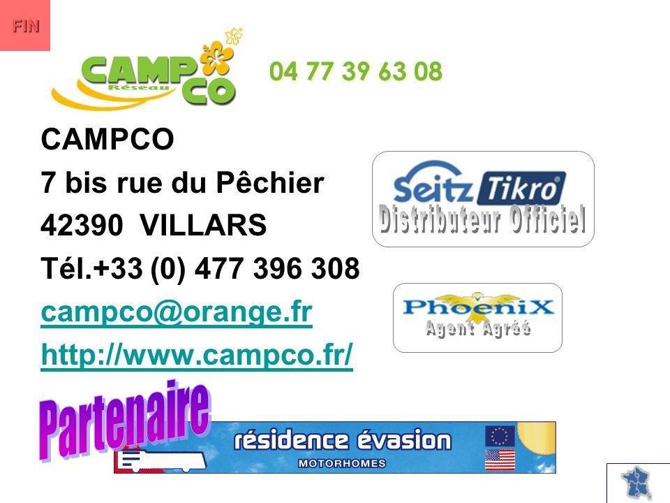 CAMPCO 7 bis rue du Pêchier 42390 VILLARS Tél.+33 (0) 477 396 308 campco@orange.fr http://www.campco.fr/ FIN