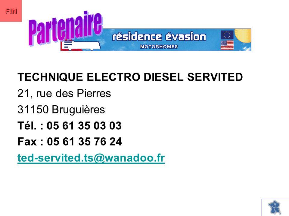 TECHNIQUE ELECTRO DIESEL SERVITED 21, rue des Pierres 31150 Bruguières Tél.