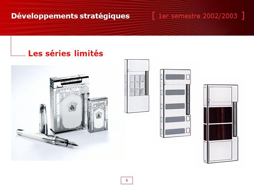 [ 1er semestre 2002/2003 ] 5 Les séries limités Développements stratégiques