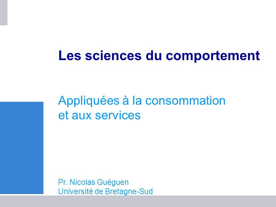 UTL-Landerneau-19 janvier 2010 1 Les sciences du comportement Appliquées à la consommation et aux services Pr. Nicolas Guéguen Université de Bretagne-