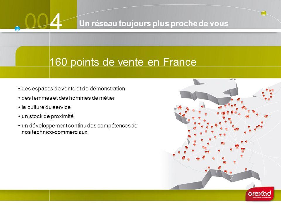 4 160 points de vente en France des espaces de vente et de démonstration des femmes et des hommes de métier la culture du service un stock de proximit