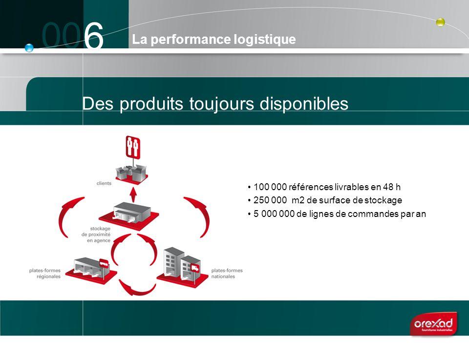 6 Des produits toujours disponibles La performance logistique 100 000 références livrables en 48 h 250 000 m2 de surface de stockage 5 000 000 de lign