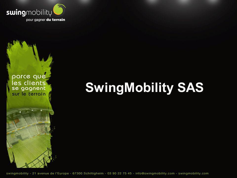 Informations générales et activités SwingMobility est un éditeur et un intégrateur de solutions logicielles de mobilité pour les populations commerciales itinérantes.
