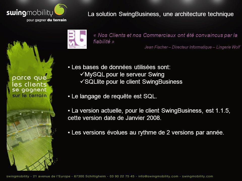 La solution SwingBusiness, une architecture technique « Nos Clients et nos Commerciaux ont été convaincus par la fiabilité » Jean Fischer – Directeur
