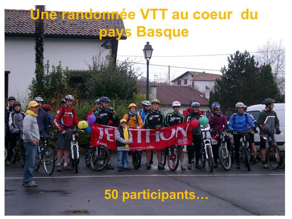 Une randonnée VTT au coeur du pays Basque 50 participants…