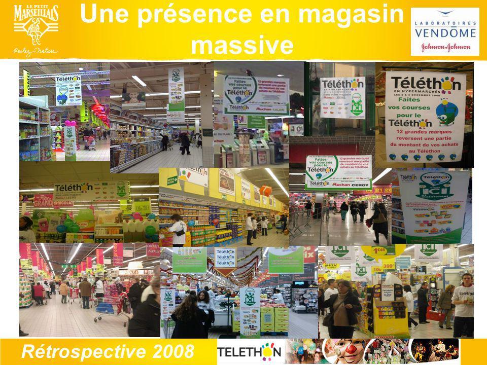 Rétrospective 2008 Une présence en magasin massive