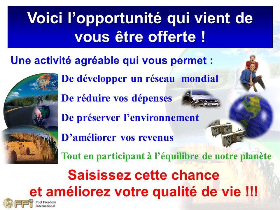 Une activité agréable qui vous permet : Saisissez cette chance et améliorez votre qualité de vie !!! De développer un réseau mondial De réduire vos dé