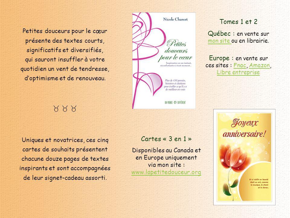 www.lapetitedouceur.org Conception : Nicole Charest © nicolecharest@videotron.ca Tous droits réservés nicolecharest@videotron.ca Texte : Jeffrey Brant