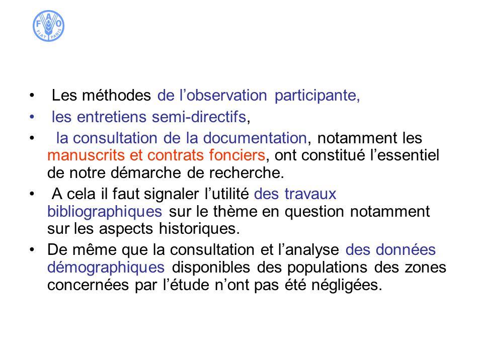 II- Démographie et dynamique de la population dans laire du safran.