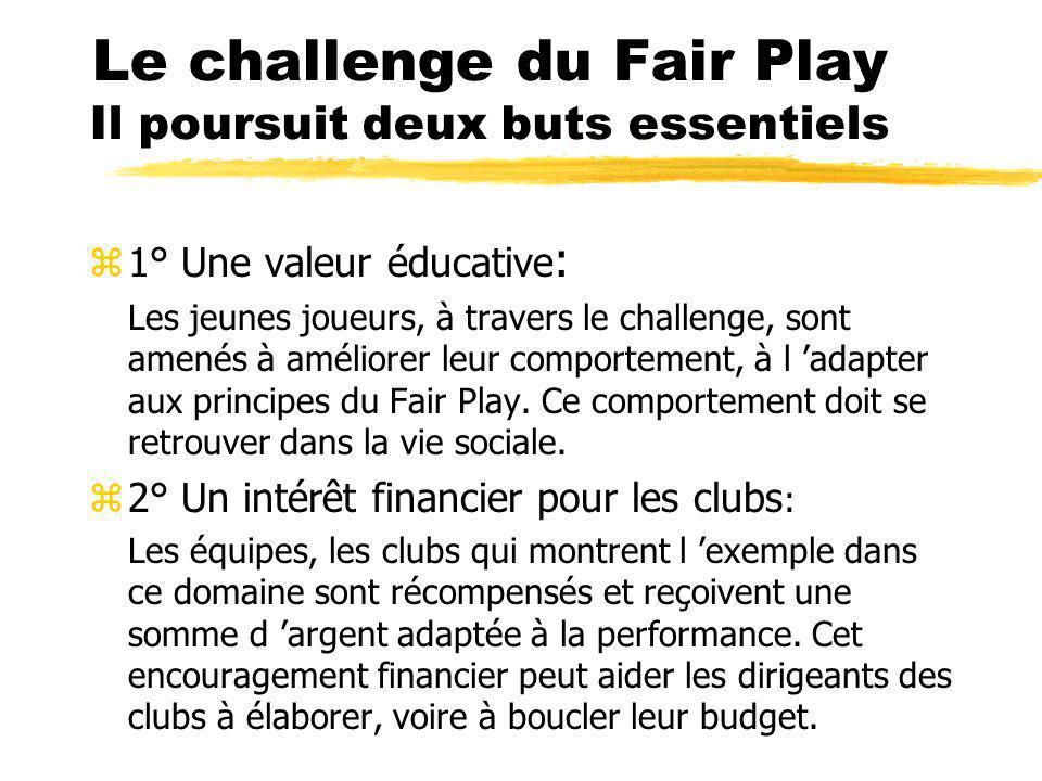 Le Fair Play Définition Le Fair Play est un comportement sportif, un « code d honneur », basé sur zle respect de l adversaire zle respect de l arbitre, zle respect du public.