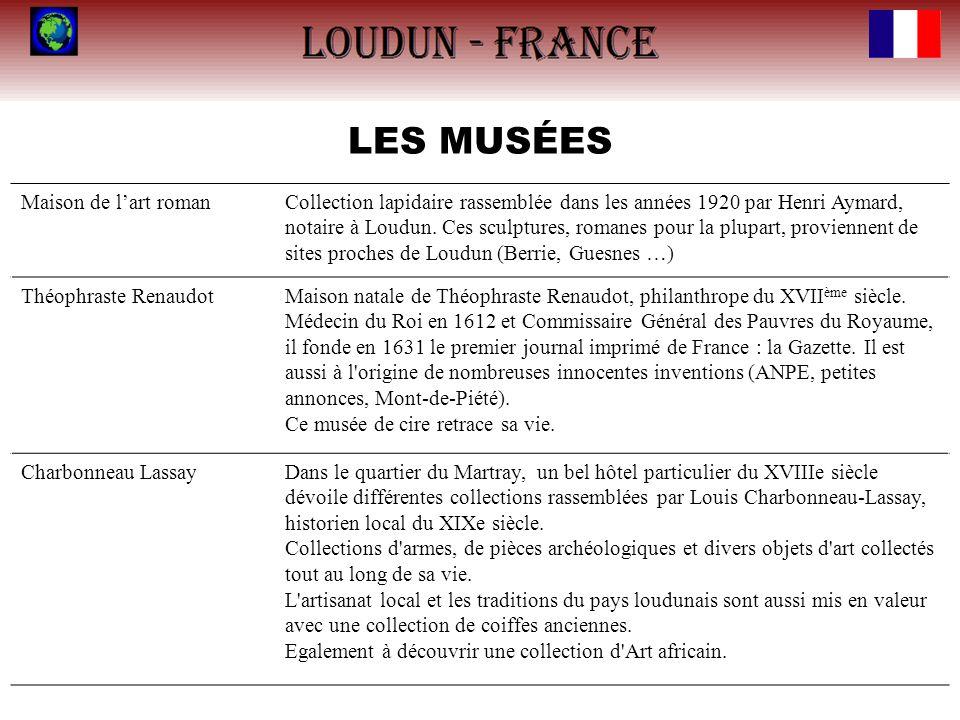 LES MUSÉES Maison de lart romanCollection lapidaire rassemblée dans les années 1920 par Henri Aymard, notaire à Loudun. Ces sculptures, romanes pour l