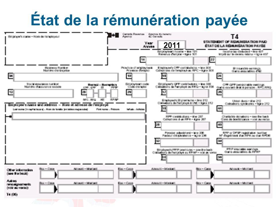 29 État de la rémunération payée 2011