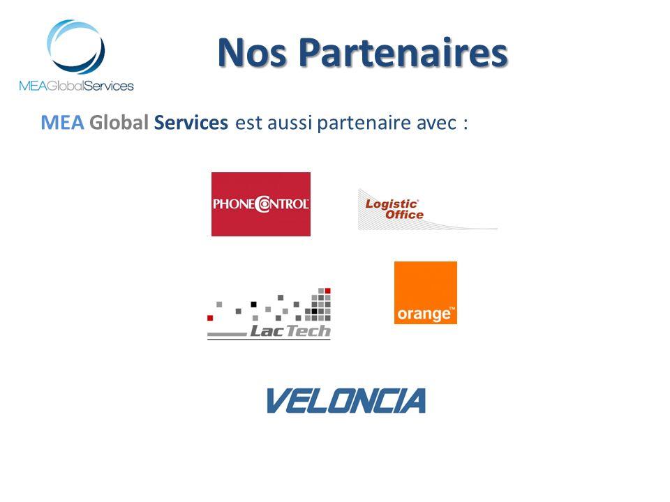 MEA Global Services est aussi partenaire avec : Nos Partenaires