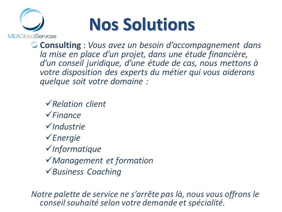 Consulting : Vous avez un besoin daccompagnement dans la mise en place dun projet, dans une étude financière, dun conseil juridique, dune étude de cas