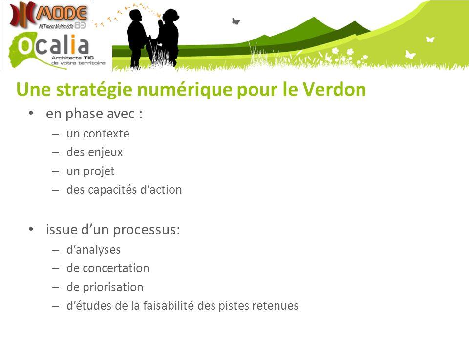 Une stratégie numérique pour le Verdon en phase avec : – un contexte – des enjeux – un projet – des capacités daction issue dun processus: – danalyses