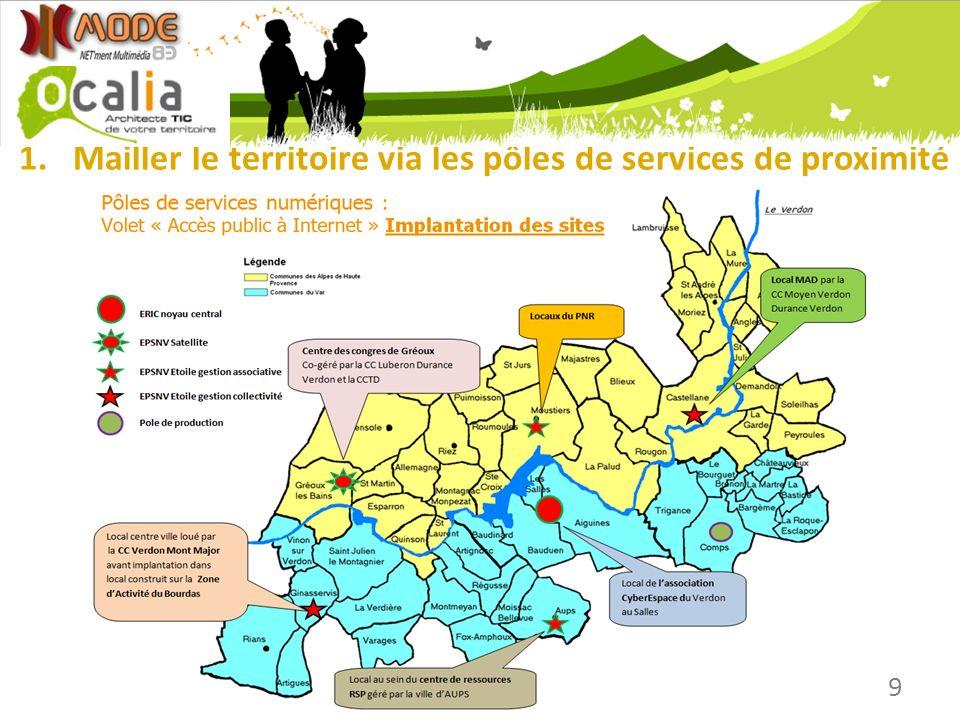 1.Mailler le territoire via les pôles de services de proximité 9
