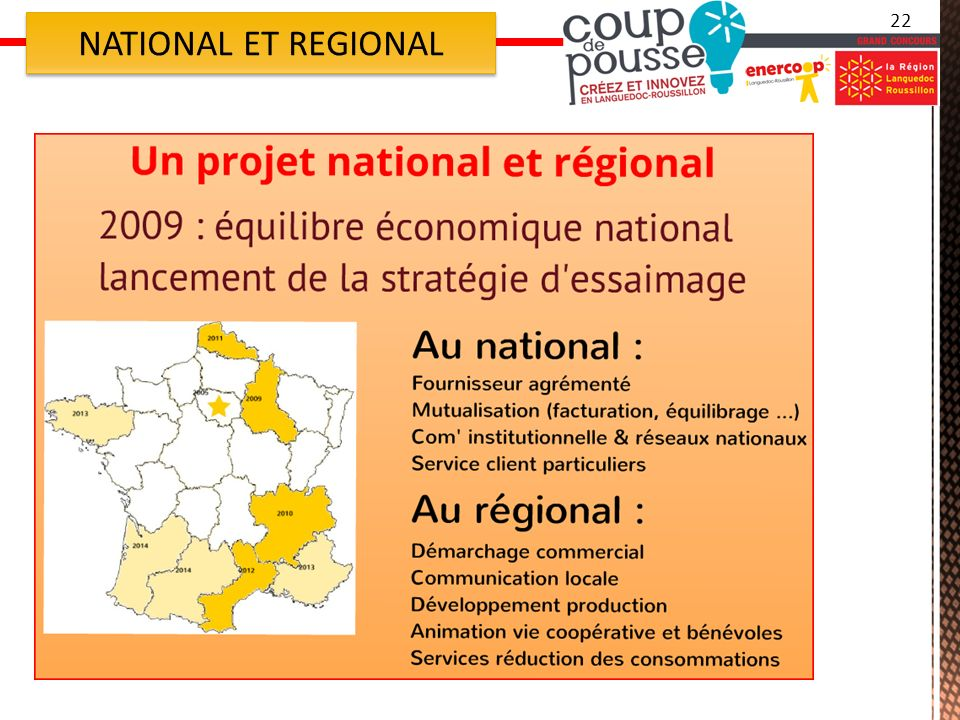 22 NATIONAL ET REGIONAL