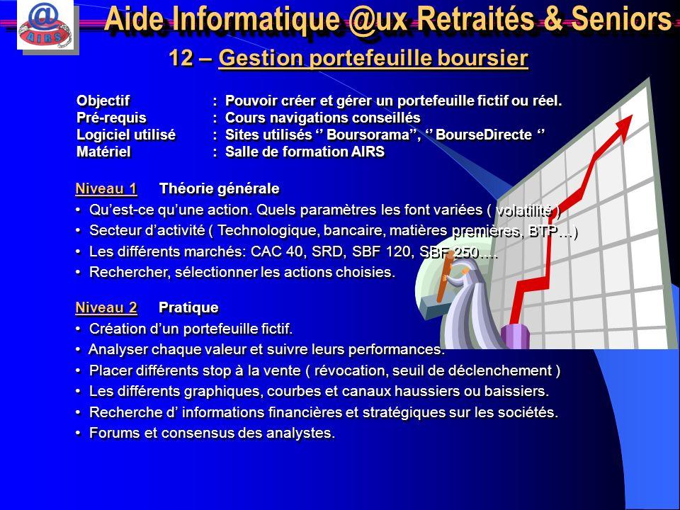 Aide Informatique @ux Retraités & Seniors 11 – Formation à Windows Vista Niveau 1 Théorie générale Rechercher lensemble des principales différences av