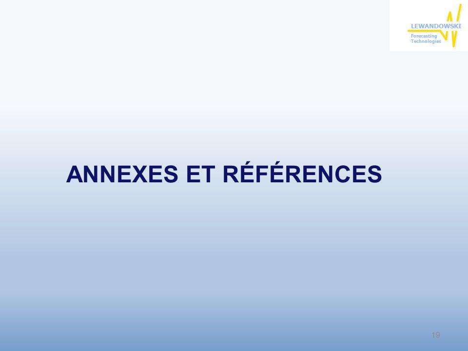 ANNEXES ET RÉFÉRENCES 19