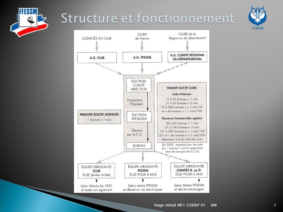 BMStage initial MF1 CODEP 0118 Un cursus similaire aux autres organisations française : - CERTIFICAT DAPTITUDE PE 1, plongeur encadré 12m - PLONGEUR NIVEAU 1 - Certificat daptitude donnant la qualification autonome 12 mètres.