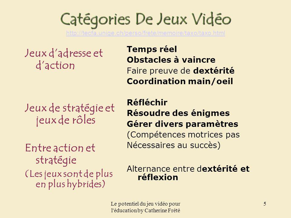 Le potentiel du jeu vidéo pour l éducation by Catherine Frété 16 Feed back textuel 1. Can you repeat please.