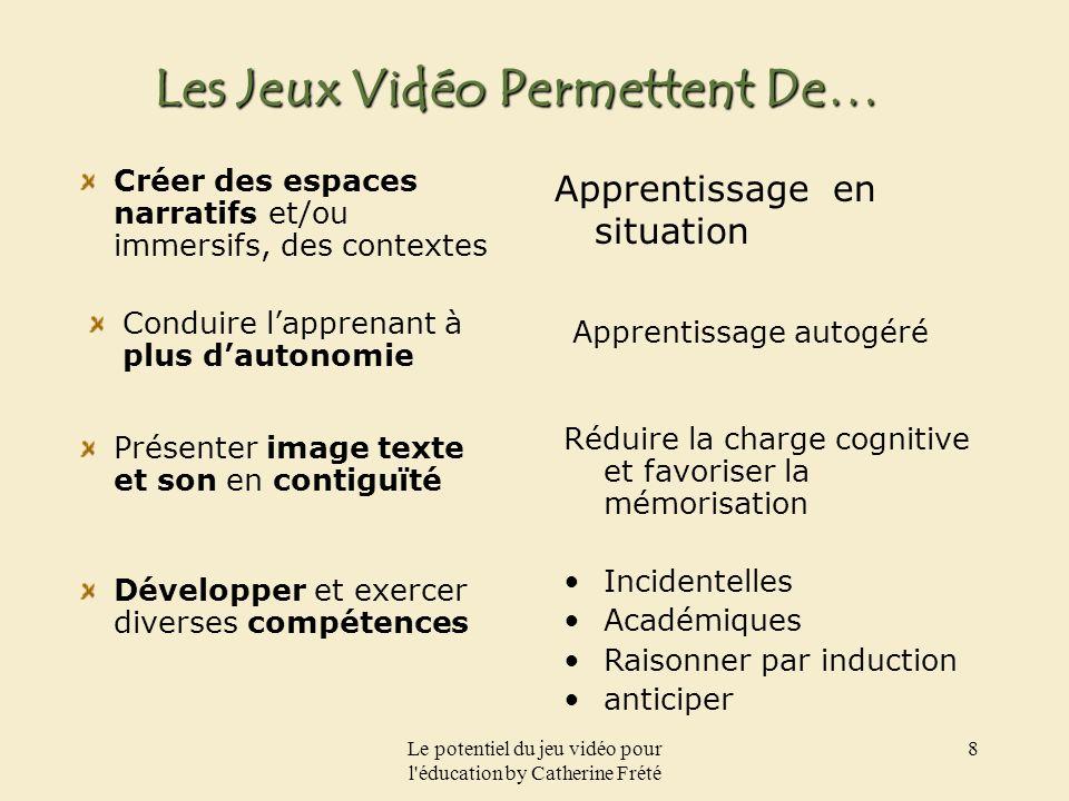 Le potentiel du jeu vidéo pour l éducation by Catherine Frété 9 Choisir Un Type De Jeu.