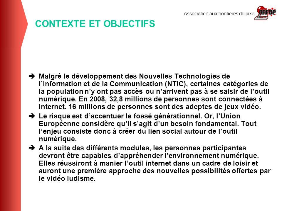Association aux frontières du pixel Malgré le développement des Nouvelles Technologies de lInformation et de la Communication (NTIC), certaines catégo
