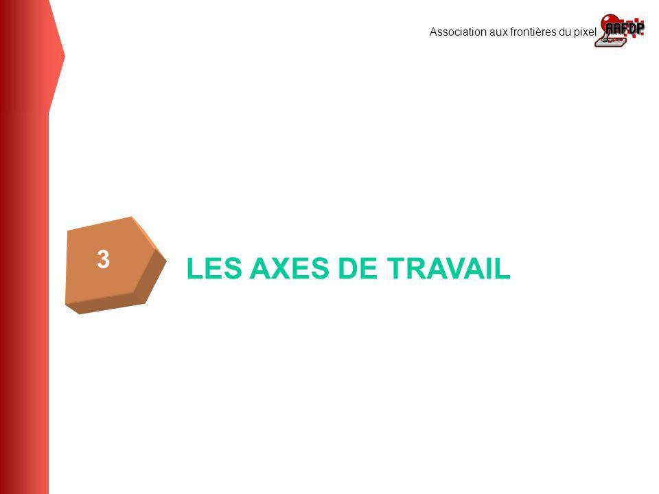 Association aux frontières du pixel LES AXES DE TRAVAIL 3