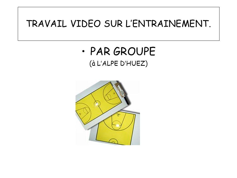TRAVAIL VIDEO SUR LENTRAINEMENT. PAR GROUPE (à LALPE DHUEZ)