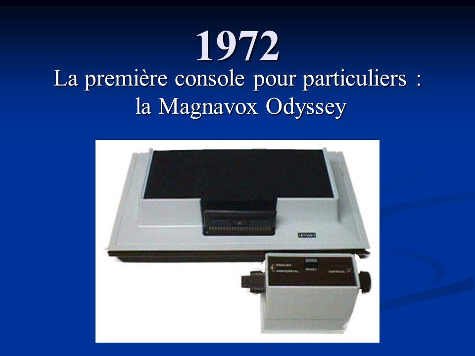 1972 La première console pour particuliers : la Magnavox Odyssey la Magnavox Odyssey