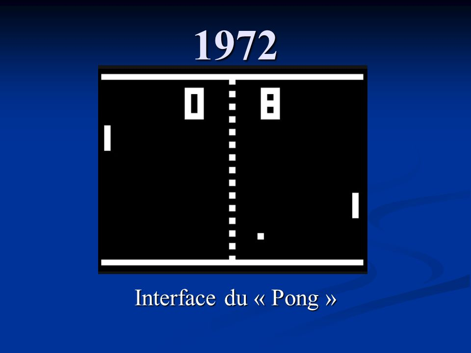 1972 Interface du « Pong »