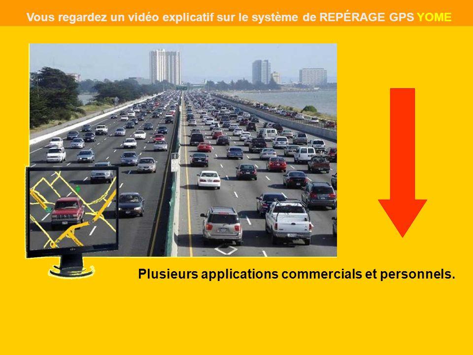 Plusieurs applications commercials et personnels. Vous regardez un vidéo explicatif sur le système de REPÉRAGE GPS YOME