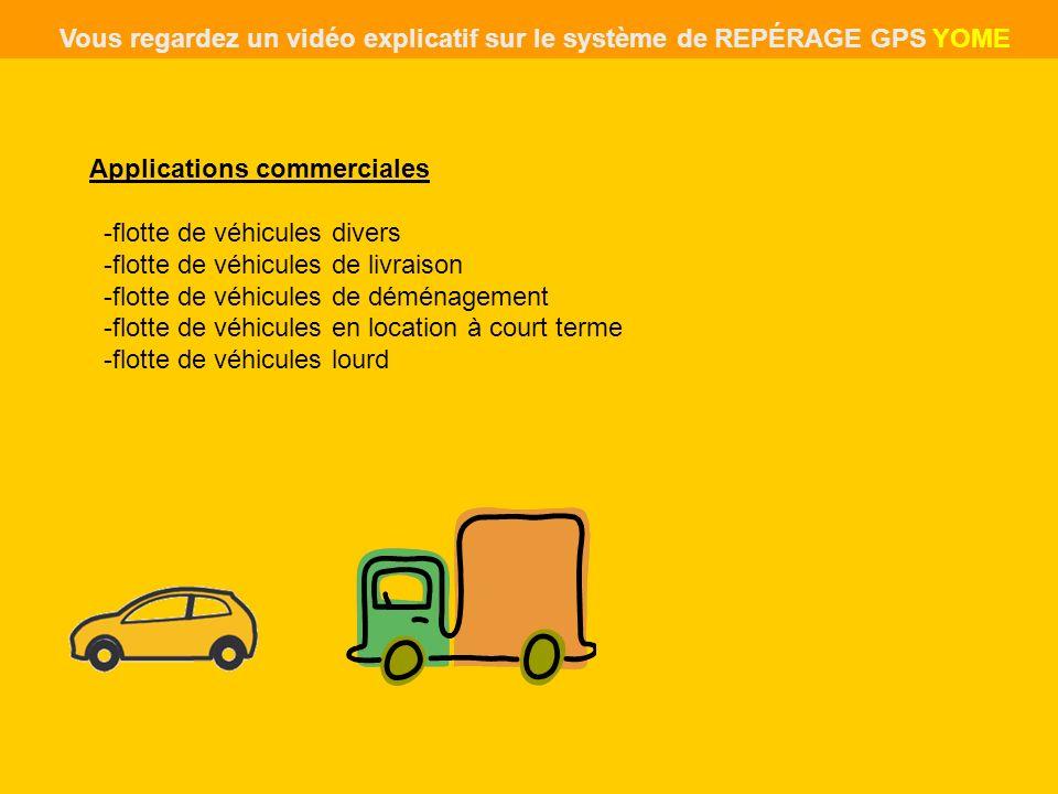Applications commerciales -flotte de véhicules divers -flotte de véhicules de livraison -flotte de véhicules de déménagement -flotte de véhicules en l