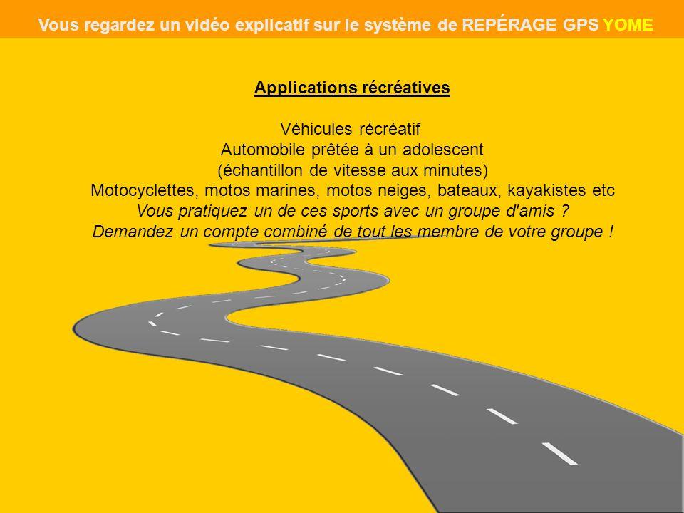 Applications récréatives Véhicules récréatif Automobile prêtée à un adolescent (échantillon de vitesse aux minutes) Motocyclettes, motos marines, moto