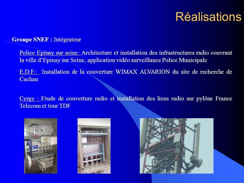 Réalisations Groupe SNEF : Intégrateur Police Epinay sur seine: Architecture et installation des infrastructures radio couvrant la ville dEpinay sur S