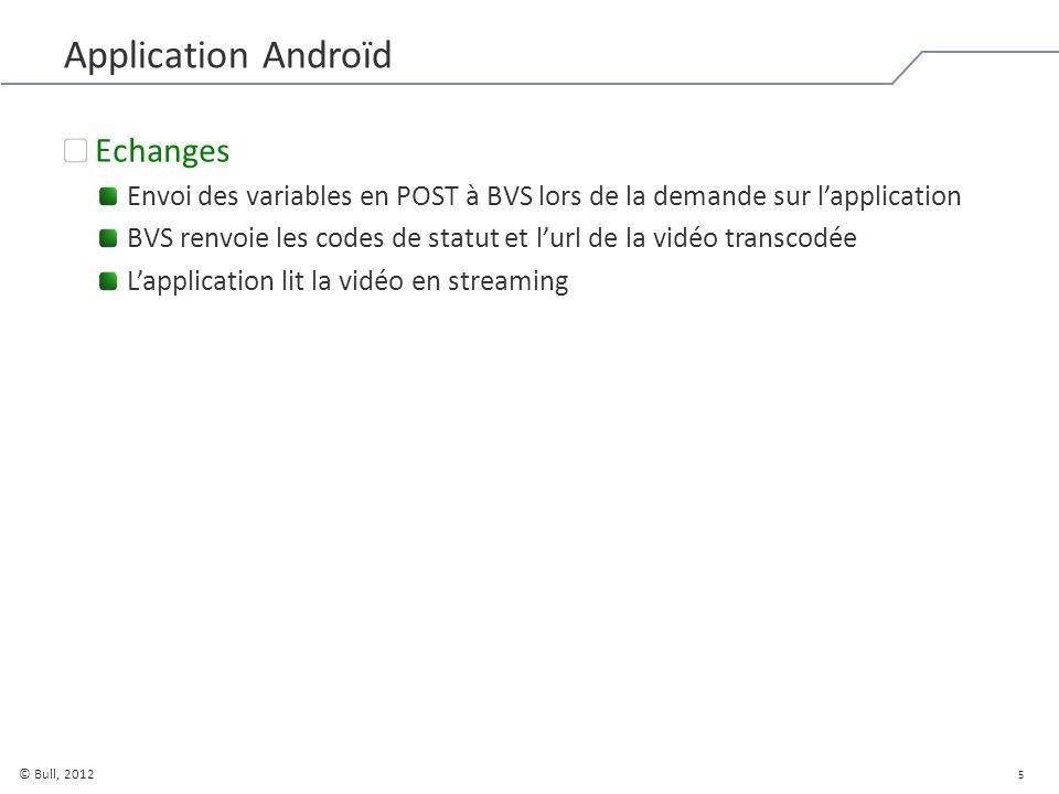 6 © Bull, 2012 Besoins fonctionnels Accès à distance Il est nécessaire davoir un dispositif Wifi qui ait tous les accès à BVS qui supporte le streaming