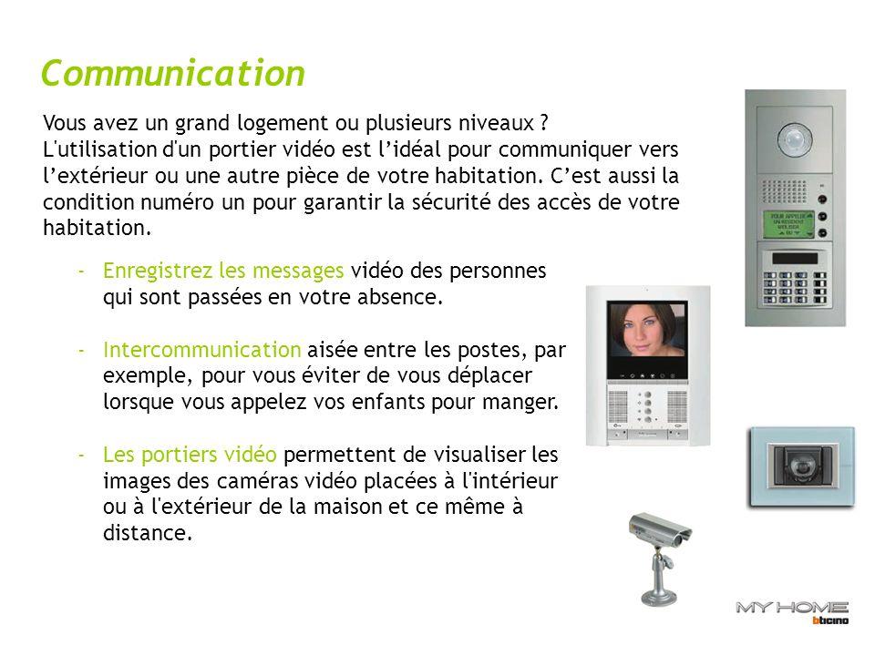 Communication -Enregistrez les messages vidéo des personnes qui sont passées en votre absence.