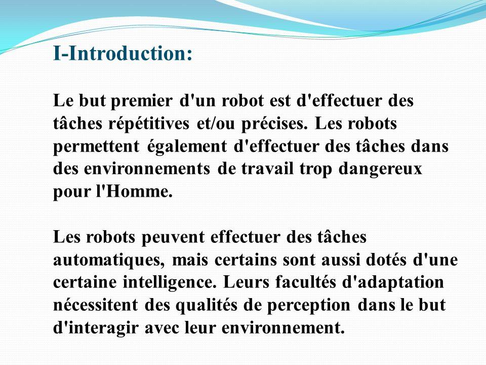Sommaire I-Introduction II-Historique III-Présentation générale vidéo IV-Interaction Homme Robot Vidéo V-Conclusion